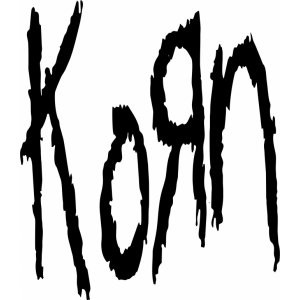 Наклейка на авто Korn word up logo