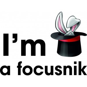 Наклейка на авто I am focusnic. Я фокусник