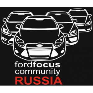 Наклейка на авто Ford Focus community Russia
