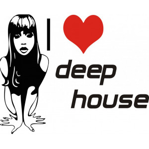 Наклейка на авто Deep House версия 3 I Love Deep House