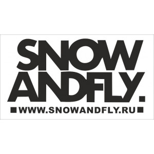 Наклейка на авто Snow and fly