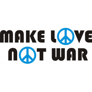 Наклейка на авто Make love, Not war