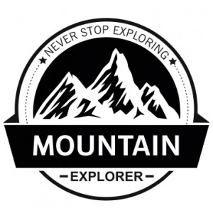 Наклейка на авто Mountain Explorer Never Stop Exploring