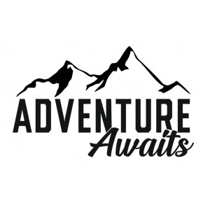 Наклейка на авто Adventure Awaits