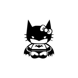 Наклейка на авто Hello Kitty Batman