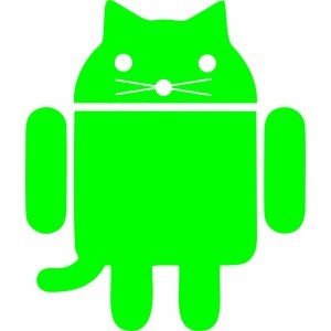 Наклейка на авто Android cat. Котодроид